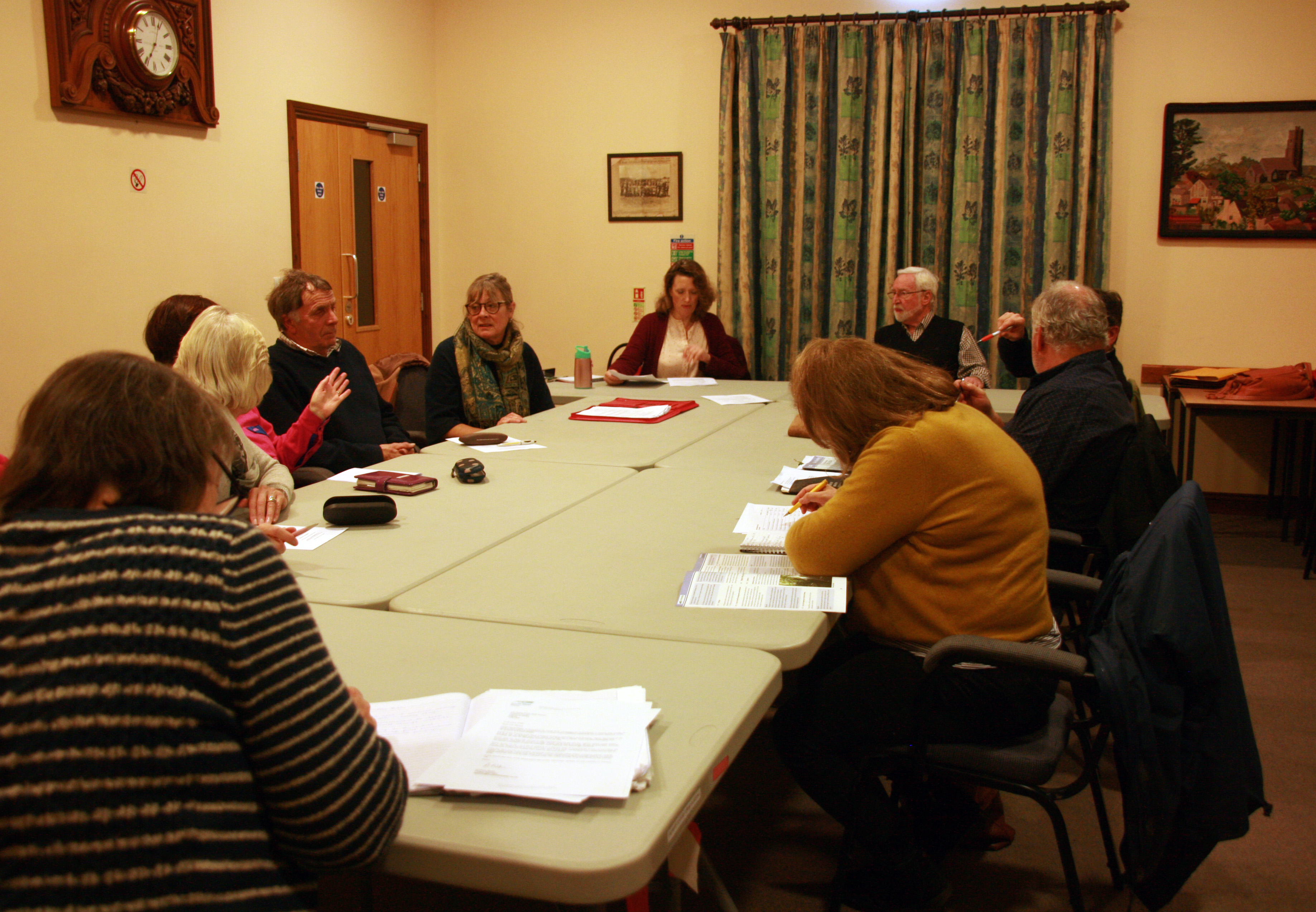 Parish Council Meeting in the Ron Harris room in the village hall