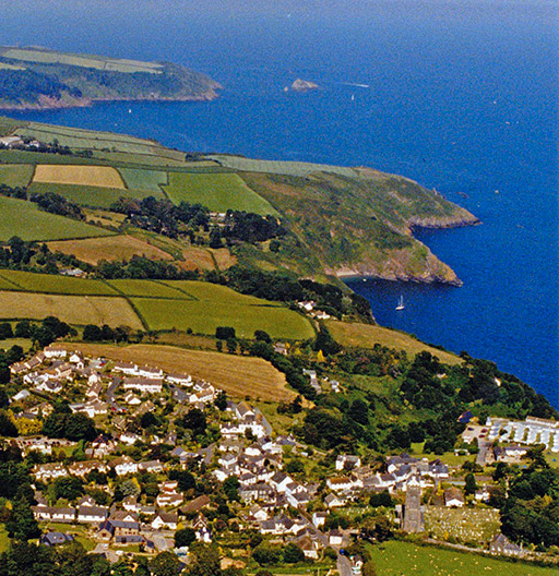 Ariel View looking towards the entrance of the river Dart