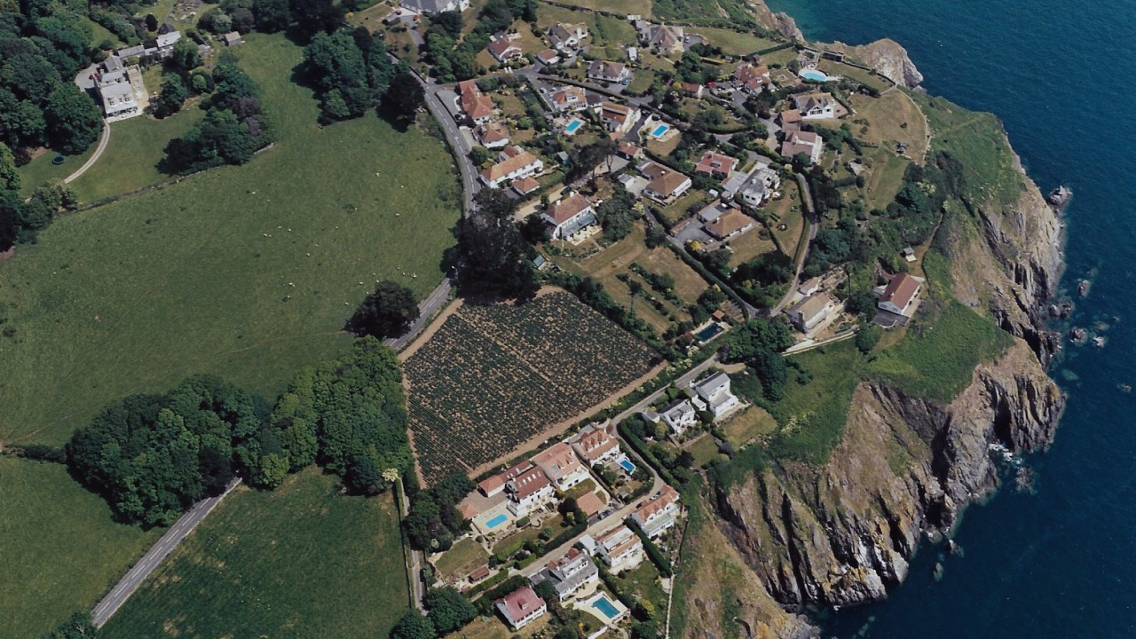 Aerial view of Overseas Estate taken in 2004 from the B J Morris Collection