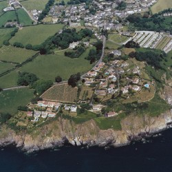 Aerial view of Overseas Estate and village Stoke Fleming from the B J Morris Collection